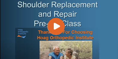 Total Shoulder Replacement Pre-Op Education Video